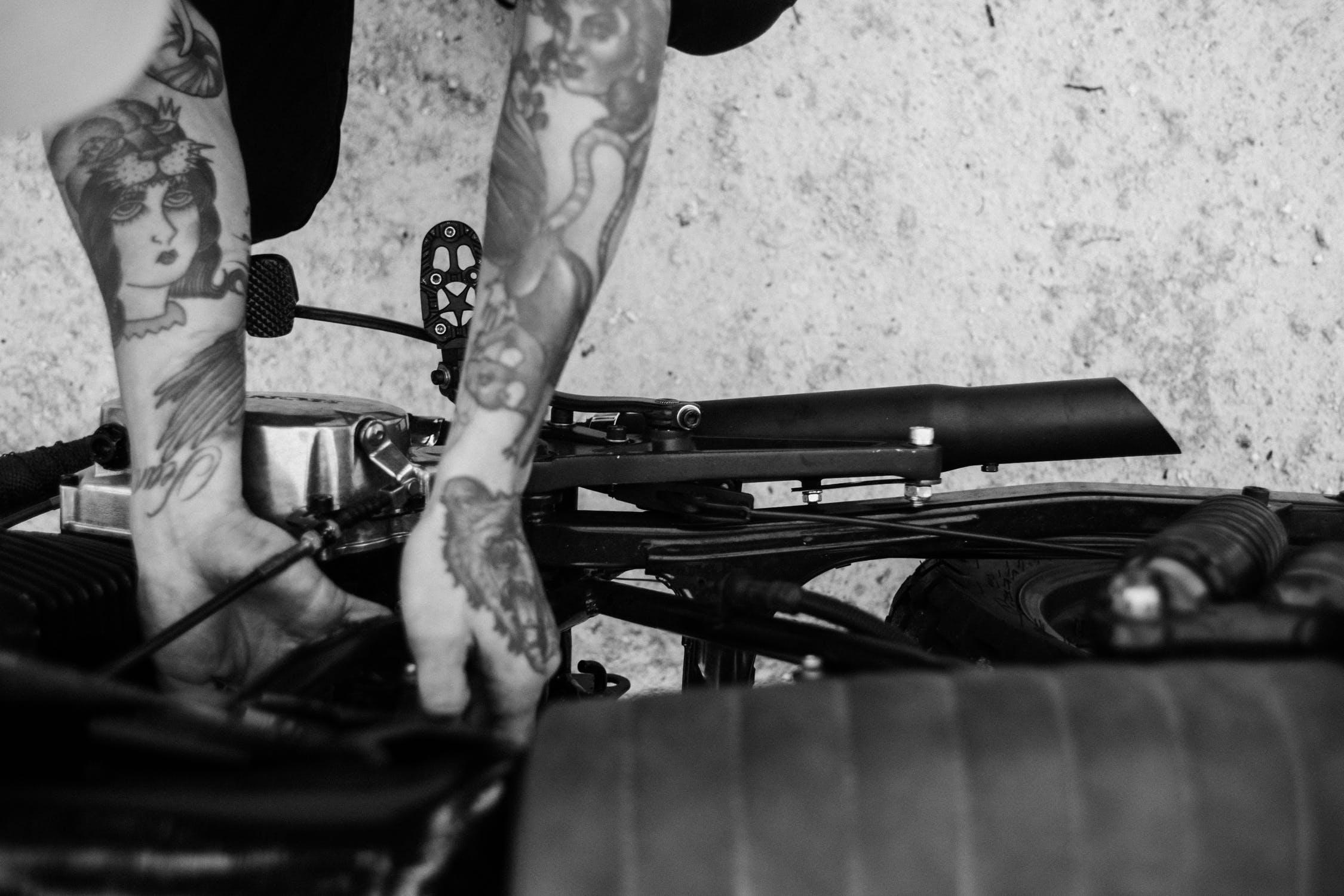 remblokken motorfiets